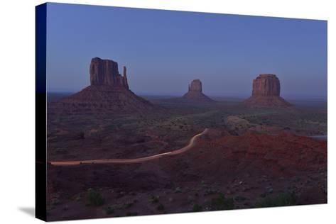Buttes at Monument Valley Tribal Park-Raul Touzon-Stretched Canvas Print