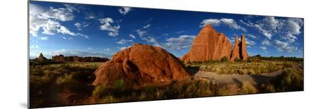 Sandstone Fin Formations at Sunset-Raul Touzon-Mounted Photographic Print