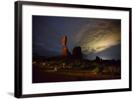 Balanced Rock at Night-Raul Touzon-Framed Art Print