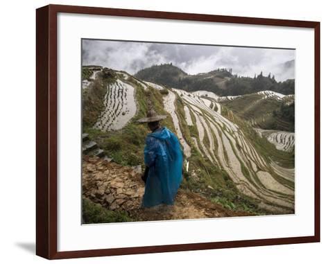 Longji Rice Terraces in China's Guangxi Province-Tino Soriano-Framed Art Print