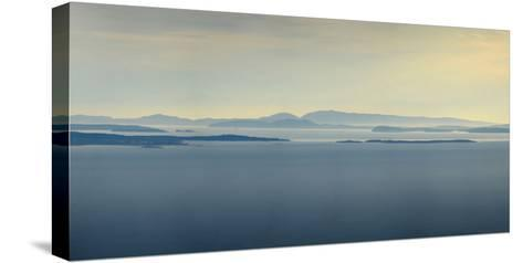 Thick Fog over Strait of Juan De Fuca, During Sunrise from Hurricane Ridge-Raul Touzon-Stretched Canvas Print