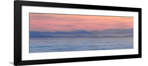 Thick Fog over Strait of Juan De Fuca During Sunrise from Hurricane Ridge-Raul Touzon-Framed Art Print