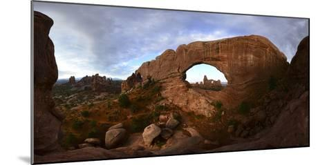 Turret Arch Through North Window Arch at Arches National Park-Raul Touzon-Mounted Photographic Print