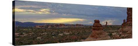 Sunset at Balanced Rock in Arches National Park-Raul Touzon-Stretched Canvas Print
