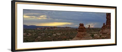 Sunset at Balanced Rock in Arches National Park-Raul Touzon-Framed Art Print