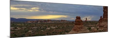 Sunset at Balanced Rock in Arches National Park-Raul Touzon-Mounted Photographic Print