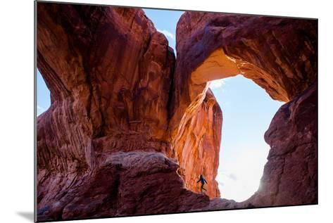 A Professional Surfer Hiking in Arches National Park-Ben Horton-Mounted Photographic Print