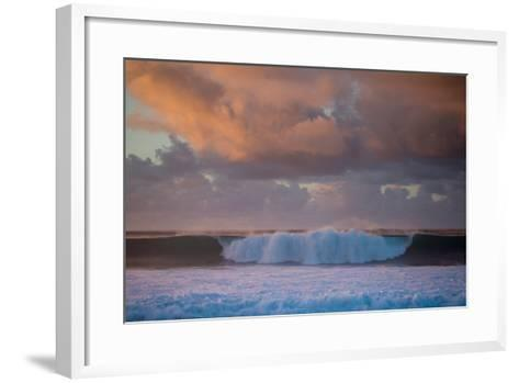 Powerful Waves Crash on the North Shore of Oahu-Ben Horton-Framed Art Print