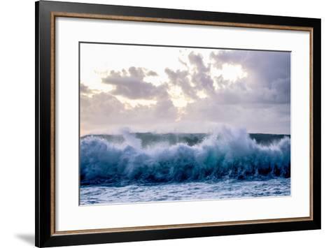 Powerful Waves Crash on the North Shore of Oahu-Ben Horton-Framed Art Print