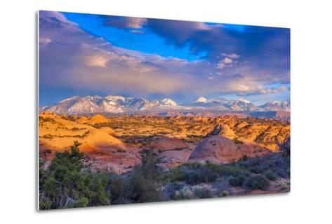 A Winter Sunset in Arches National Park-Ben Horton-Metal Print