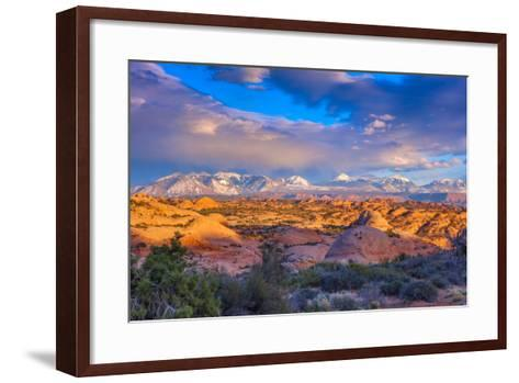 A Winter Sunset in Arches National Park-Ben Horton-Framed Art Print