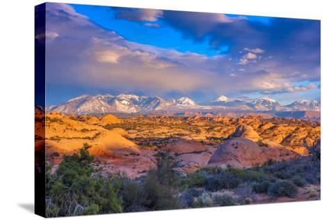 A Winter Sunset in Arches National Park-Ben Horton-Stretched Canvas Print