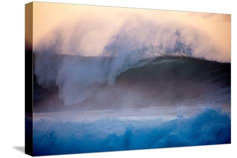 Powerful Waves Crash on the North Shore of Oahu-Ben Horton-Stretched Canvas Print