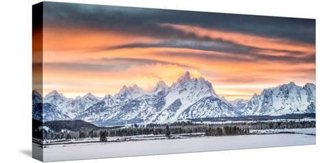 A Dramatic Sky Above Teton National Park-Charlie James-Stretched Canvas Print