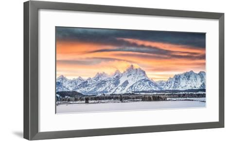 A Dramatic Sky Above Teton National Park-Charlie James-Framed Art Print