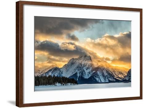 Mountains in Grand Teton National Park-Charlie James-Framed Art Print