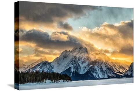 Mountains in Grand Teton National Park-Charlie James-Stretched Canvas Print