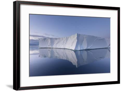A Tabular Iceberg under the Midnight Sun of the Antarctic Summer in the Weddell Sea-Jeff Mauritzen-Framed Art Print