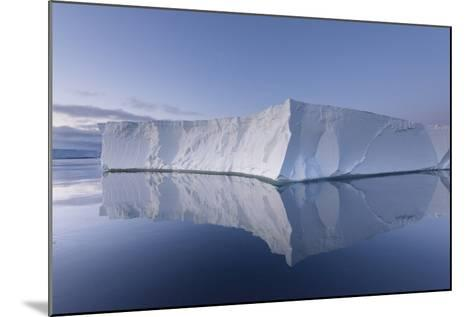 A Tabular Iceberg under the Midnight Sun of the Antarctic Summer in the Weddell Sea-Jeff Mauritzen-Mounted Photographic Print