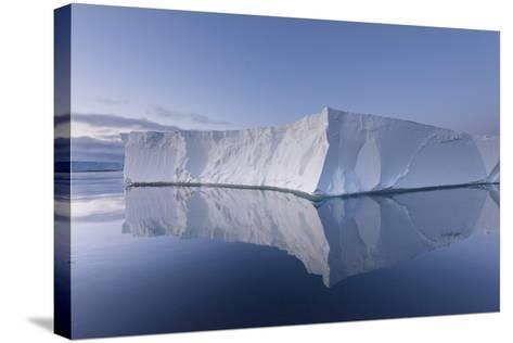 A Tabular Iceberg under the Midnight Sun of the Antarctic Summer in the Weddell Sea-Jeff Mauritzen-Stretched Canvas Print