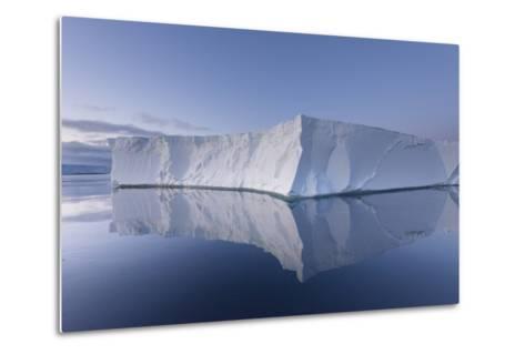 A Tabular Iceberg under the Midnight Sun of the Antarctic Summer in the Weddell Sea-Jeff Mauritzen-Metal Print