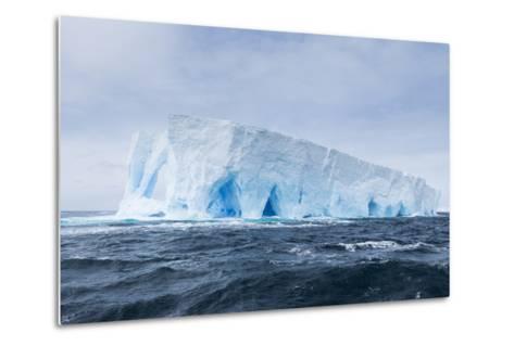 A Natural Arch Formation Inside a Tabular Iceberg-Jeff Mauritzen-Metal Print