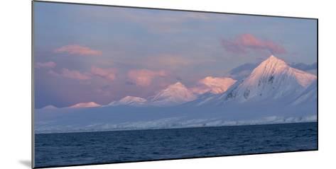 Snowcapped Mountain Along the Gerlache Strait, Antarctica-Jeff Mauritzen-Mounted Photographic Print