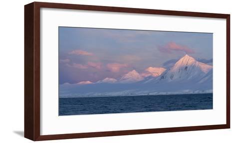 Snowcapped Mountain Along the Gerlache Strait, Antarctica-Jeff Mauritzen-Framed Art Print