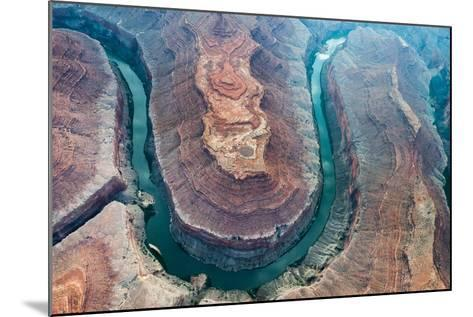 Aerial View of the Colorado River Flowing Through the Grand Canyon-Peter Mcbride-Mounted Photographic Print