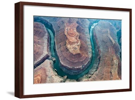Aerial View of the Colorado River Flowing Through the Grand Canyon-Peter Mcbride-Framed Art Print