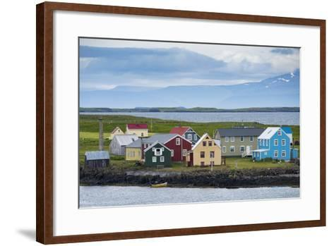 Flatey Island in the Breidafjordur Area of the Westfjords, Iceland-Michael Melford-Framed Art Print