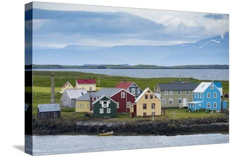 Flatey Island in the Breidafjordur Area of the Westfjords, Iceland-Michael Melford-Stretched Canvas Print
