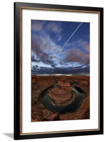 Stars Emerge from the Evening Twilight in a Partly Cloudy Sky Above Glen Canyon-Babak Tafreshi-Framed Art Print