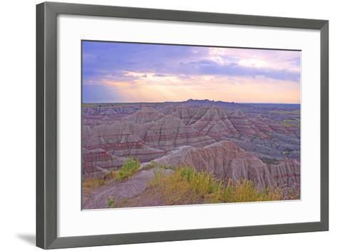 Rocky Landscape of Badlands National Park in South Dakota, Usa-Donna O'Meara-Framed Art Print