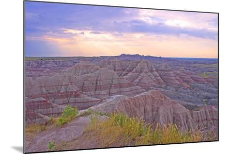 Rocky Landscape of Badlands National Park in South Dakota, Usa-Donna O'Meara-Mounted Photographic Print