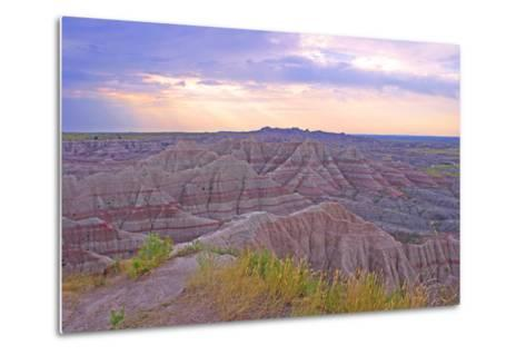 Rocky Landscape of Badlands National Park in South Dakota, Usa-Donna O'Meara-Metal Print
