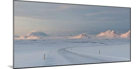 A Large Panorama of the Vatnajokull National Park Landscape in Iceland-Alex Saberi-Mounted Photographic Print