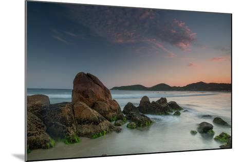 Scenic View of Praia Do Rosa Beach in Florianopolis Mainland at Sunset-Alex Saberi-Mounted Photographic Print