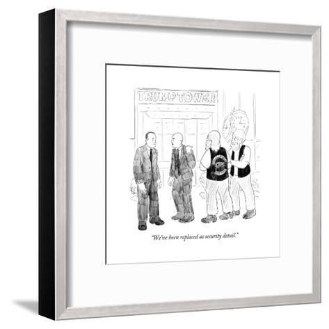 """""""We've been replaced as security detail."""" - Cartoon-Emily Flake-Framed Art Print"""