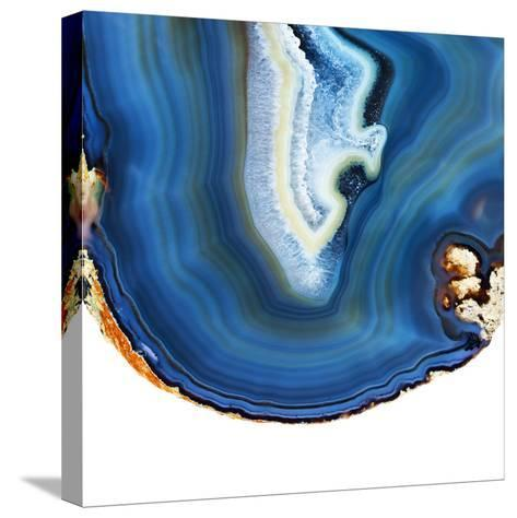 Cobalt Blue Agate A-GI ArtLab-Stretched Canvas Print