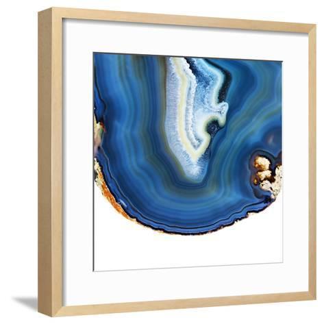 Cobalt Blue Agate A-GI ArtLab-Framed Art Print