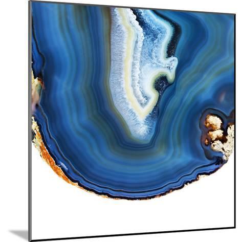 Cobalt Blue Agate A-GI ArtLab-Mounted Premium Photographic Print