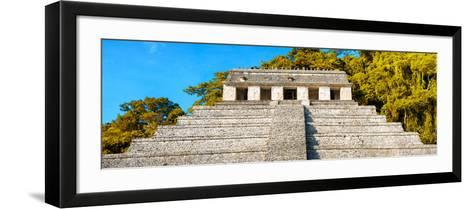 ¡Viva Mexico! Panoramic Collection - Mayan Temple of Inscriptions with Fall Colors II-Philippe Hugonnard-Framed Art Print