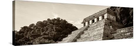 ¡Viva Mexico! Panoramic Collection - Mayan Temple of Inscriptions - Palenque I-Philippe Hugonnard-Stretched Canvas Print