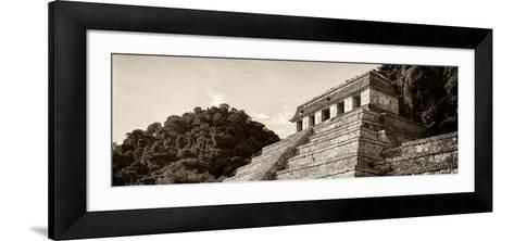 ¡Viva Mexico! Panoramic Collection - Mayan Temple of Inscriptions - Palenque I-Philippe Hugonnard-Framed Art Print