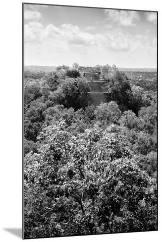 ¡Viva Mexico! B&W Collection - Ruins of the ancient Mayan city of Calakmul II-Philippe Hugonnard-Mounted Photographic Print