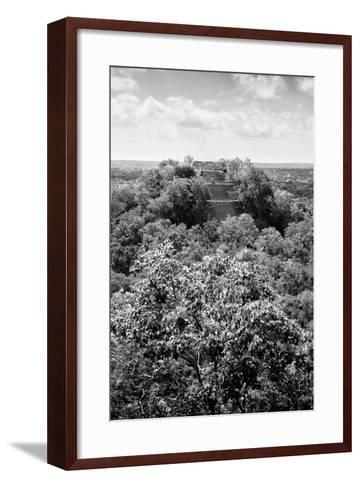 ¡Viva Mexico! B&W Collection - Ruins of the ancient Mayan city of Calakmul II-Philippe Hugonnard-Framed Art Print