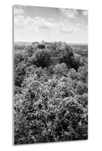¡Viva Mexico! B&W Collection - Ruins of the ancient Mayan city of Calakmul II-Philippe Hugonnard-Metal Print