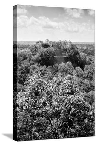 ¡Viva Mexico! B&W Collection - Ruins of the ancient Mayan city of Calakmul II-Philippe Hugonnard-Stretched Canvas Print