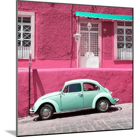 ¡Viva Mexico! Square Collection - VW Beetle Car and Pink Wall-Philippe Hugonnard-Mounted Photographic Print